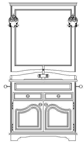 Blocchi autocad formato dwg mobili bagno