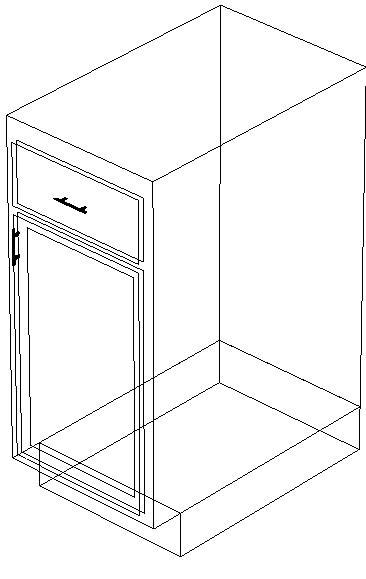 Blocchi cad in formato dwg: mobili base per arredo cucina