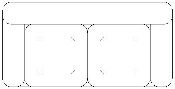 Blocchi autocad formato dwg o dxf divano for Arredamento cad