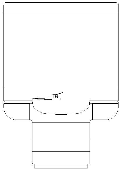 Blocco dwg di lavabo visto in prospetto free download for Blocchi autocad dwg