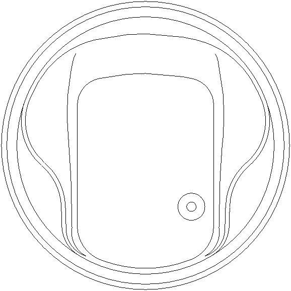 Vasca rotonda formato dwg diametro 1.60