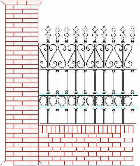 Blocchi cad recinzione dwg recinzioni for Blocchi autocad dwg