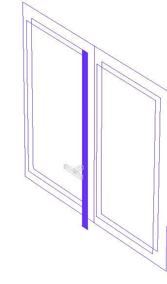 Finestra in tre dimensioni formato dwg per cad - Blocchi autocad finestre ...