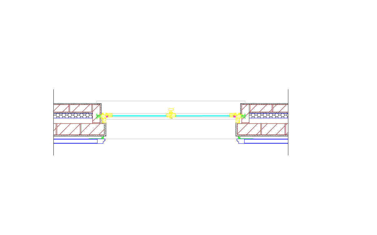 Blocco CAD raffigurante delle Finestre viste in pianta - formato dwg